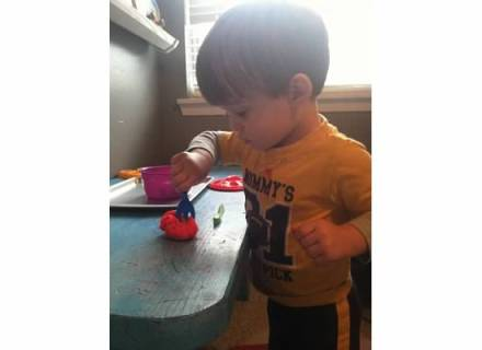"""We """"cooked"""" with our Play-doh this week. Lawson really loved this activity, and he kept saying """"Fun!"""""""